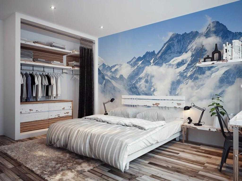 Mural dinding kamar tidur kecil dapat membangkitkan imajinasi yang luas (Sumber: pinterest.com)