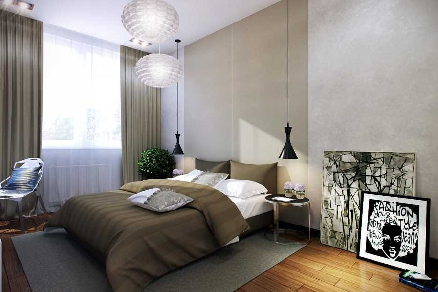 Lampu dapat menjadi dekorasi gantung di kamar tidur kecil(Sumber: home-designing.com)