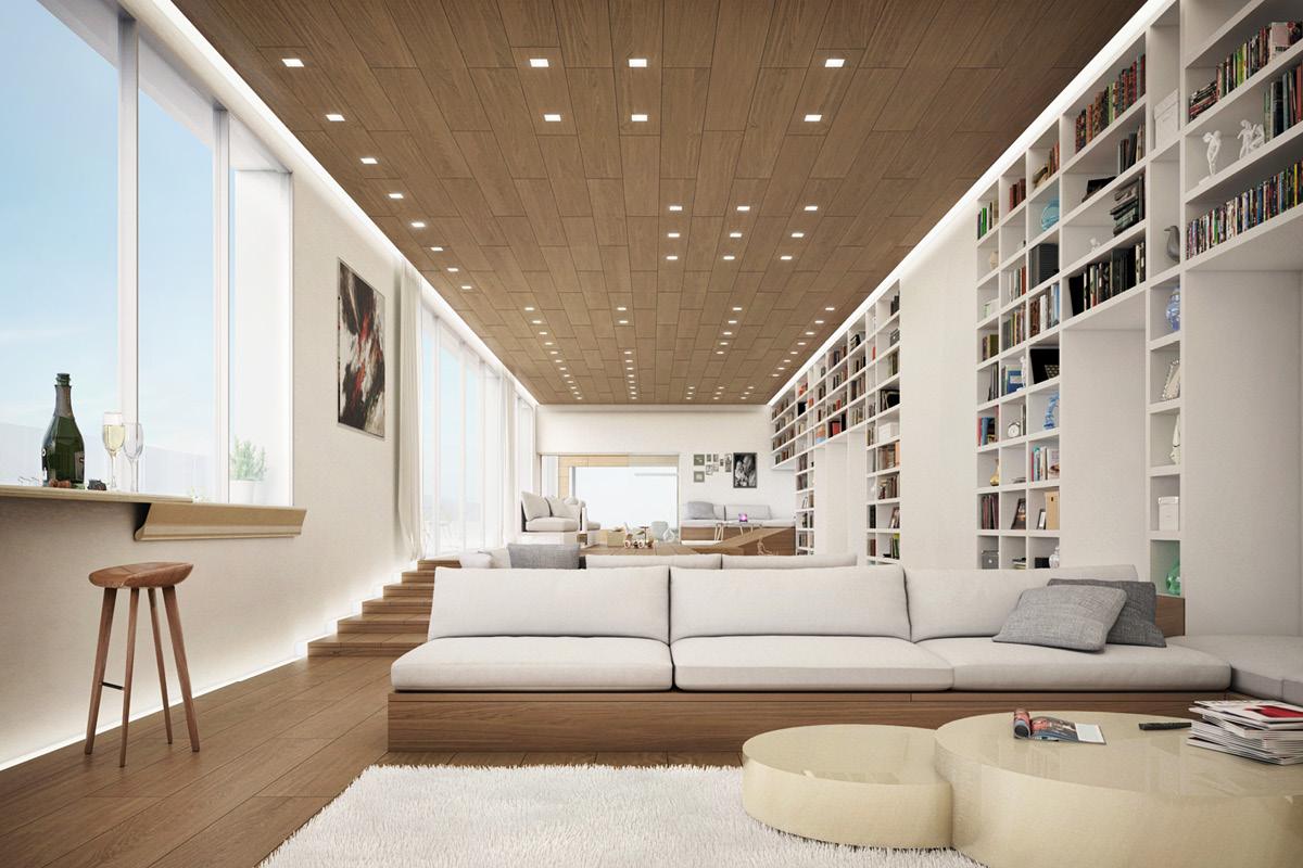 Desain rumah mewah dengan peninggian lantai (Sumber: home-designing.com)