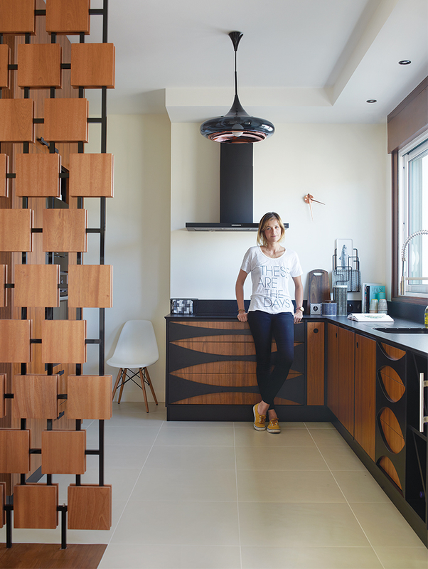 Ide penyekat baja dan blok kayu (Sumber: dwell.com)