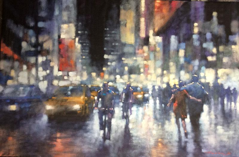 Contemporary Art Australia, David Hinchliffe, Rain and Light Show, oil on canvas, 2015. 102x152cm, SGD$5500. Image courtesy of the artist.