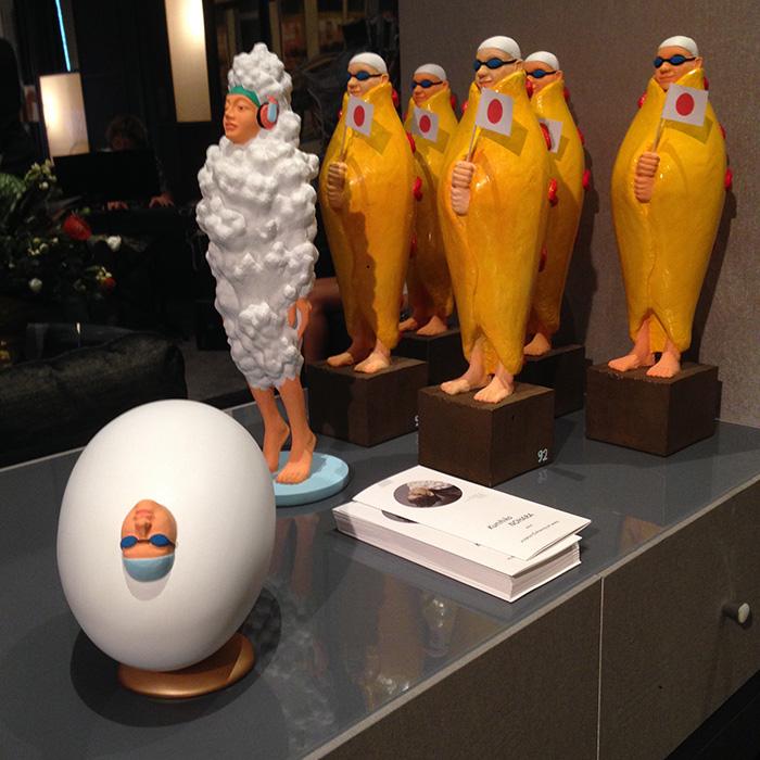 Omelet mantle, Kunihiko Nohara. Fiberglass resin. Gallery UG. Art Apart Fair 2015. Photo: ArtHop