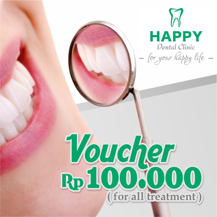 Coupons  Voucher Rp. 100,000 from Happy Dental Clinic</h3>