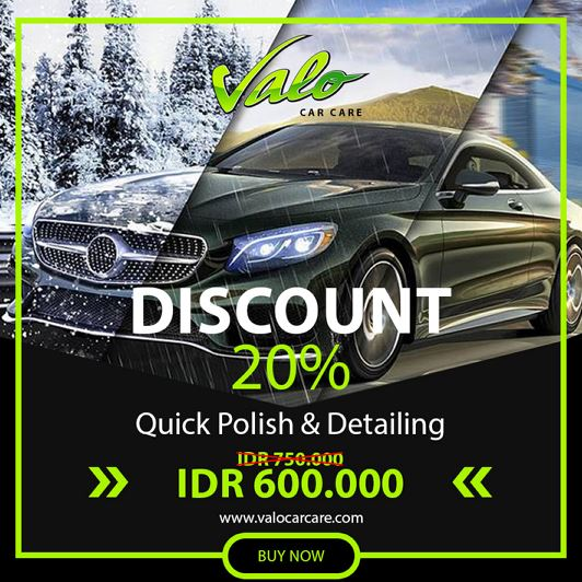 Diskon 20% untuk Quick Polish & Detailing dari Valo Car Care