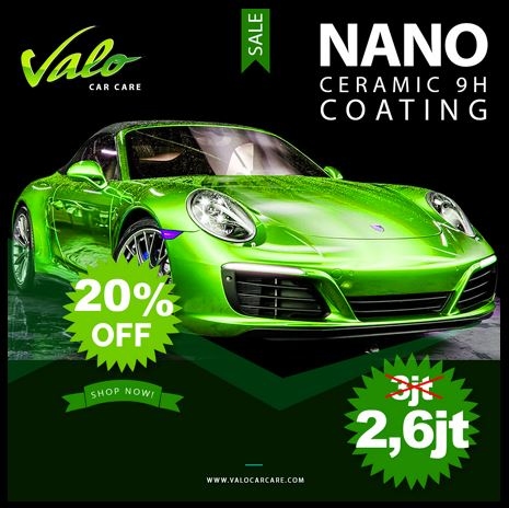Discount 20% for Nano Ceramic 9H at Valo Car Care</h3>