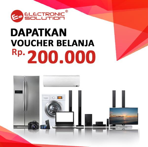 Get Voucher IDR 200.000 of Electronic Solution