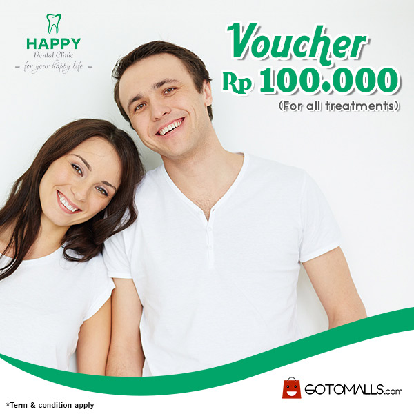 Voucher Rp 100.000 from Happy Dental Clinic</h3>