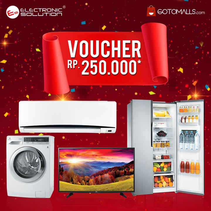 Get Shopping Voucher Rp 250,000 from Electronic Solution