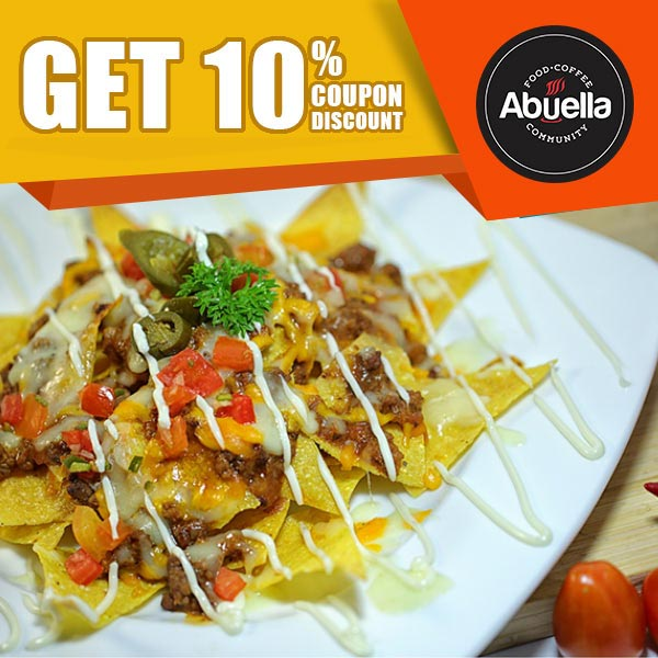 Voucher Discount 10% at Abuella Cafe