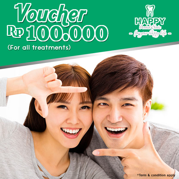 Voucher Rp 100.000 from Happy Dental Clinic
