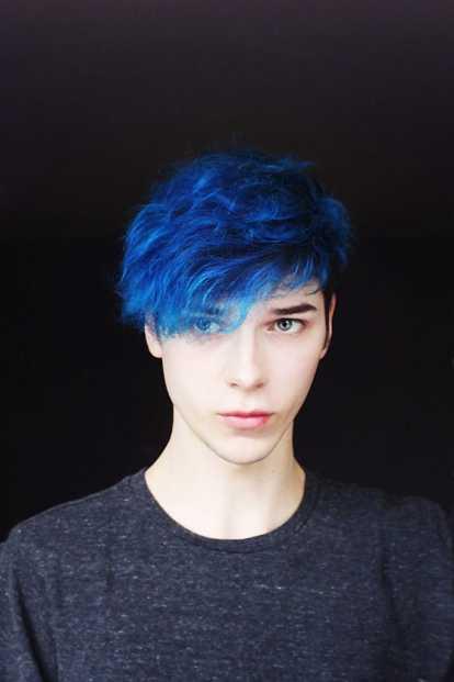 Gaya Rambut Pria Warna Biru 11
