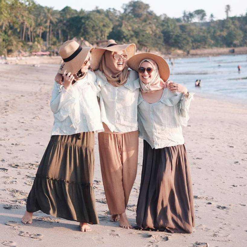Baju Ke Pantai Hijab Ootd