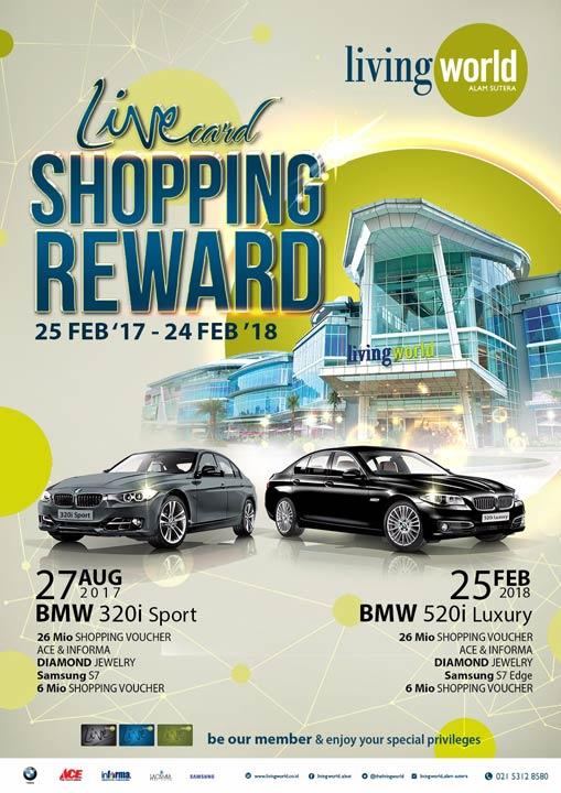 Livecard Shopping Reward dari Living World