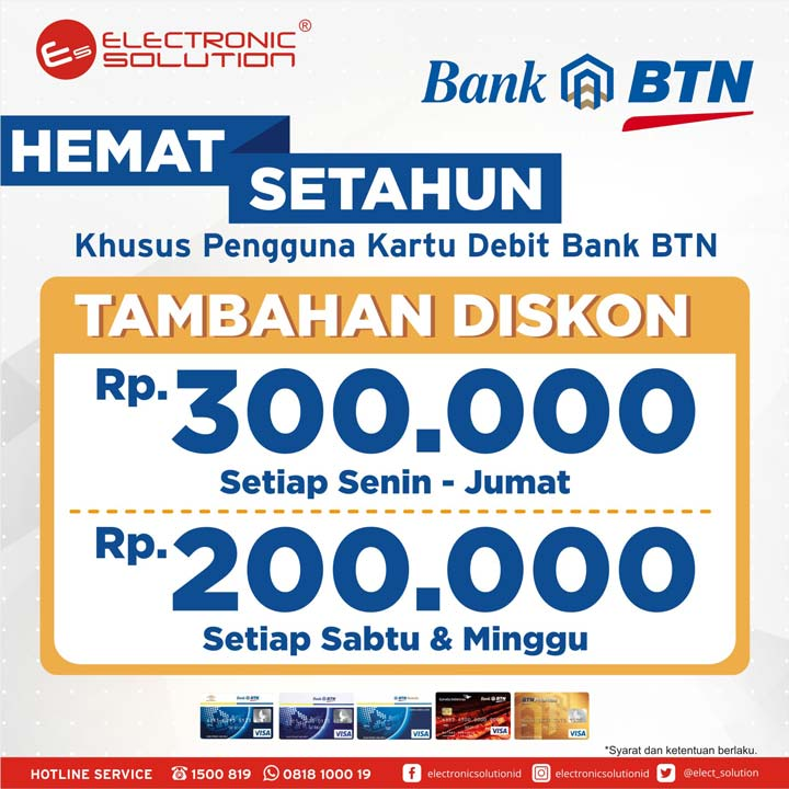 Additional Discount up to Rp. 300.000 from Electronic Solution