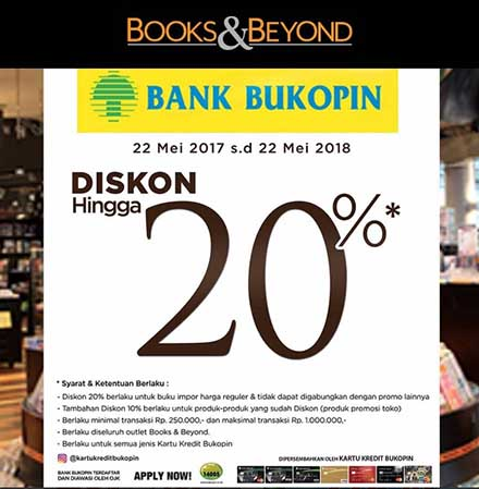 Discount 20% with Bukopin Credit Card at Books & Beyond