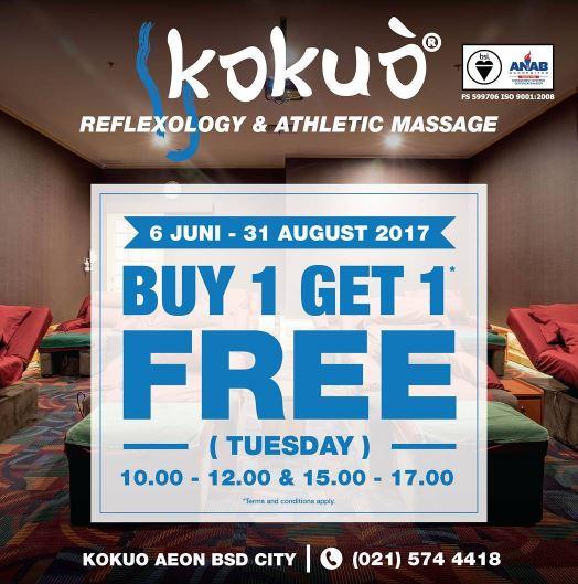 buy 1 get 1 free kokuo reflexology aeon mall bsd city