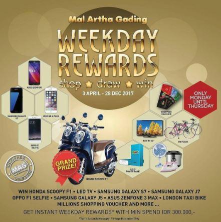 Weekday Rewards from Mall Artha Gading