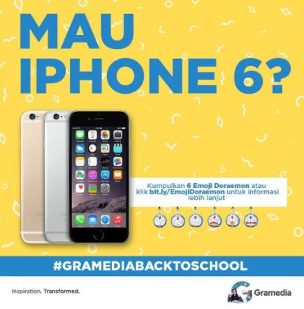 Get iPhone 6 from Gramedia