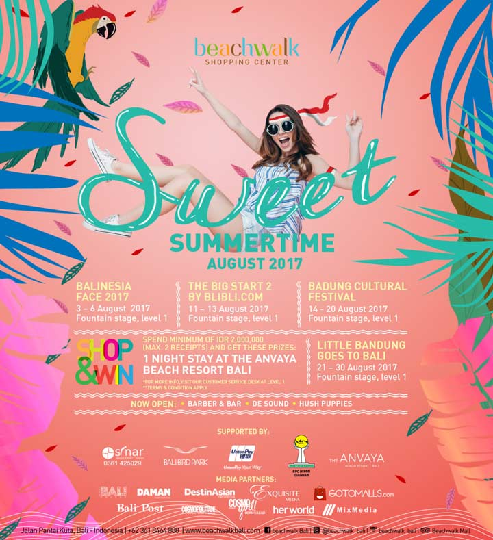 Sweet Summertime Event di Beachwalk Bali