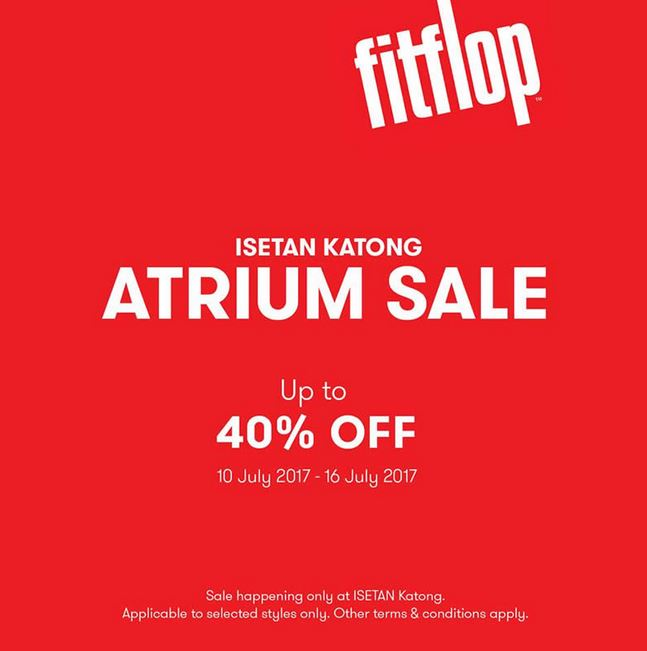 outlet store d8e41 9ff93 Discount 40% OFF for Fitflop at Isetan Parkway Parade ...