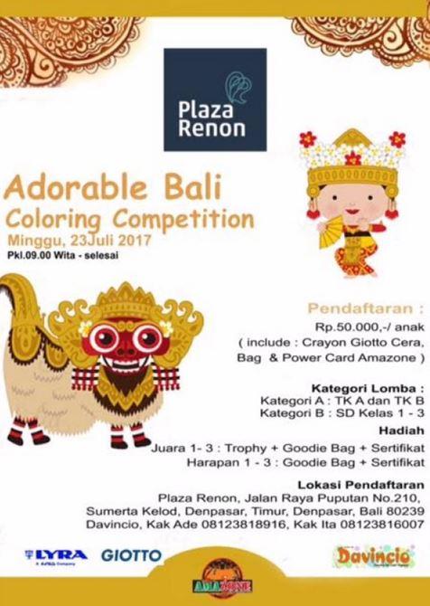 Coloring Competition At Plaza Renon Gotomalls