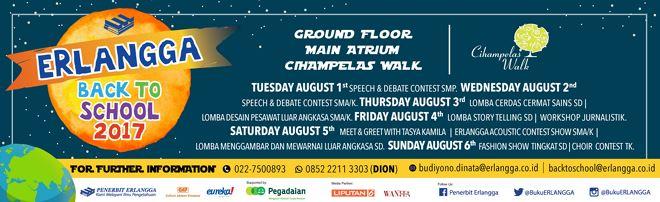 Erlangga Back to School 2017 at Cihampelas Walk Mall