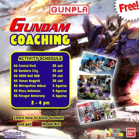 Assemble Gundam With Kidz Station
