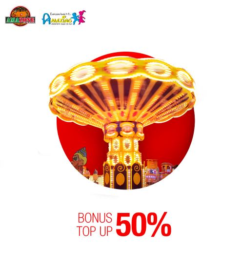 Bonus top up 50% from Amazone