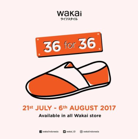 Promo 36 for 36 from Wakai