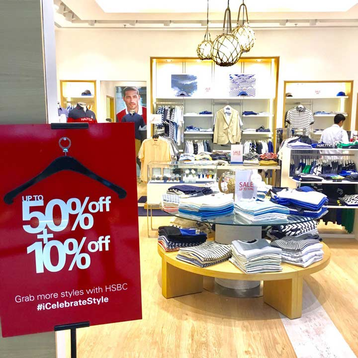 Discount up to 50% + 10% from Nautica at Lippo Mall Puri