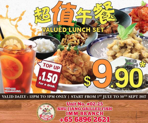 Special Price at Shu Jiang Grilled Fish