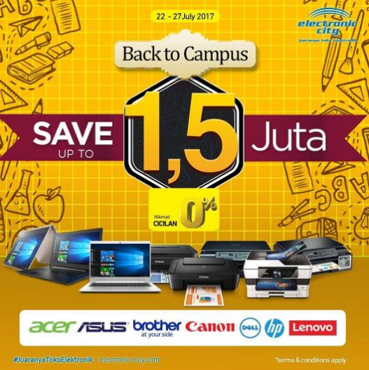 Back to Campus promo at Electronic City
