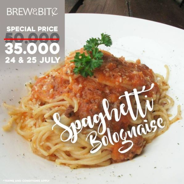 Special Price from Brew & Bite at Trans Studio Mall Bandung