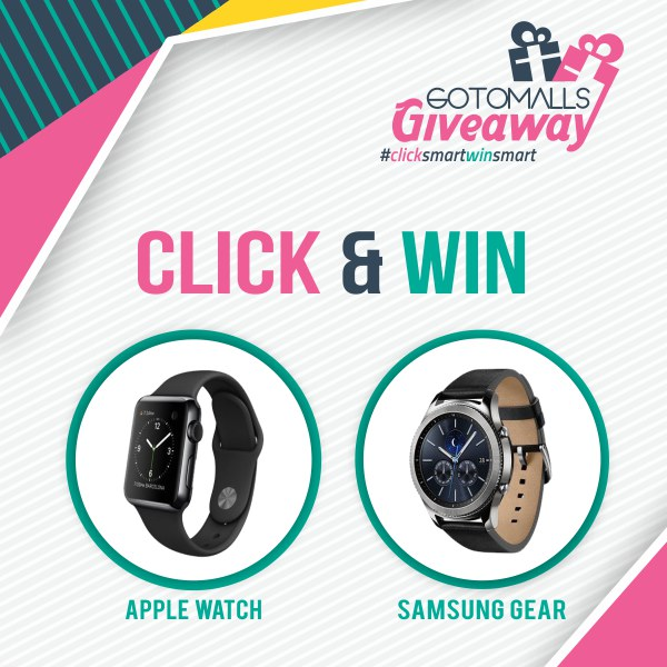 Click & Win Smartwatch at Gotomalls Giveaway