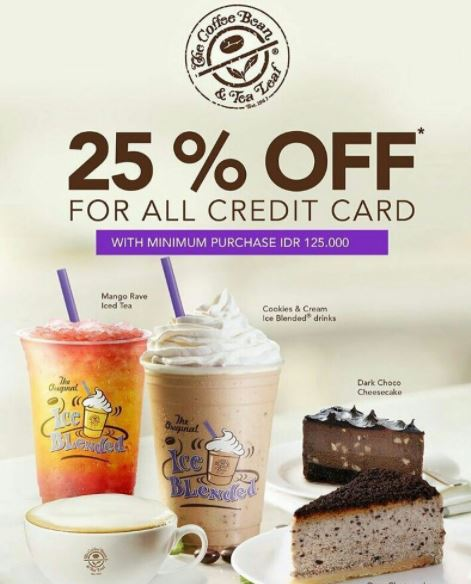 Discount 25% on The Coffee Bean & Tea Leaf