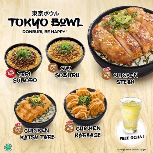 Free Cold Ocha in new menu of HokBen