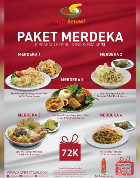 Merdeka Package at Kafe Betawi