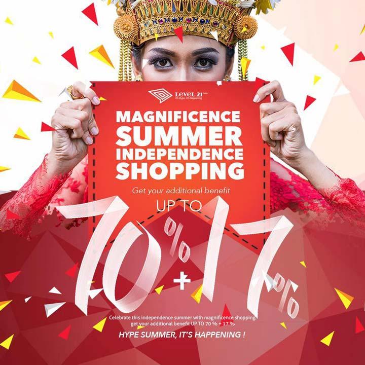 Summer Independence Shopping dari Level 21 Mall</h3>