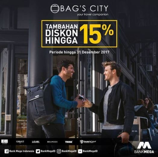 Additional discounts up to 15% from Bag's City