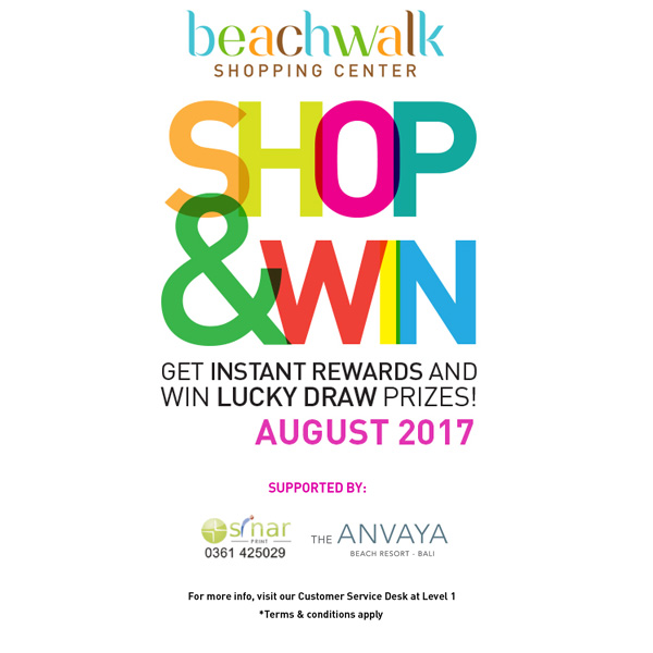Shop & Win Event August 2017