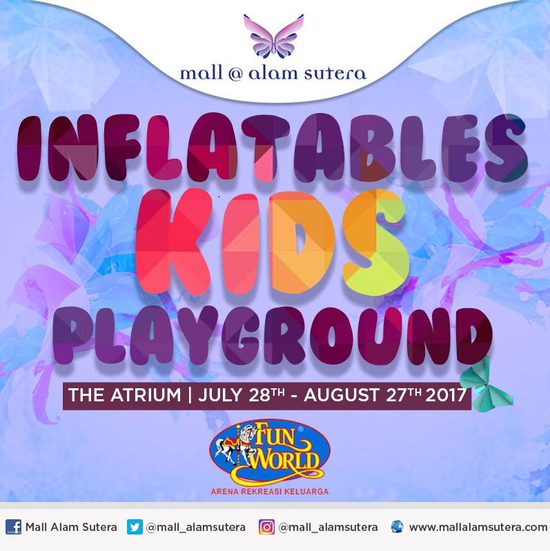 Inflatables Kids Playground at Mall @ Alam Sutera