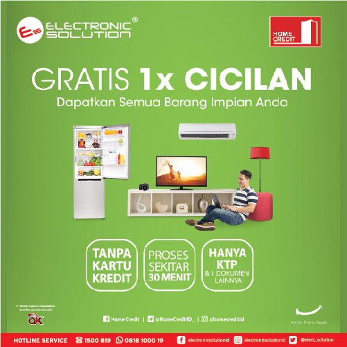 Free 1X Installment with Home Credit Indonesia at Electronic