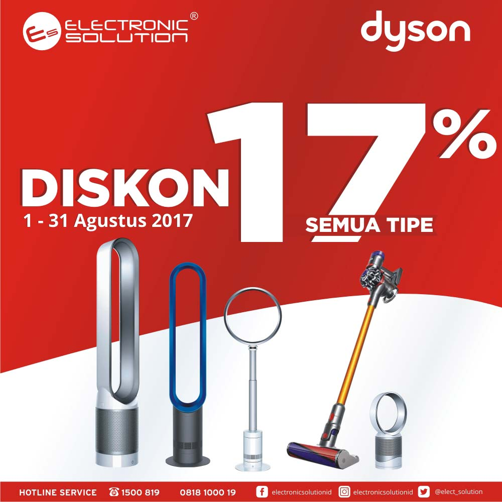 Discount 17% from Dyson at Electronic Solution