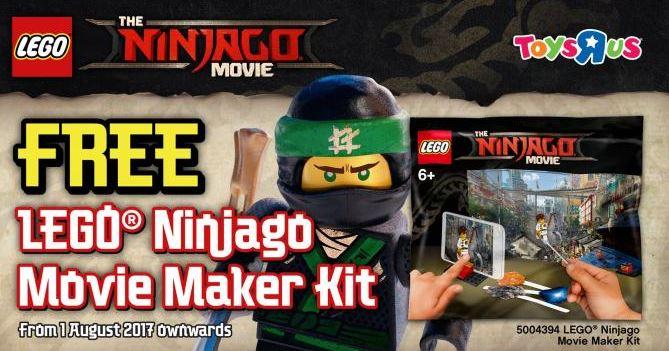 Free Lego Ninjago Movie Maker Kit At Toys R Us Forum The