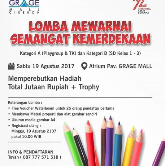 Coloring Contest Of Independence Day At Grage City Mall Gotomalls