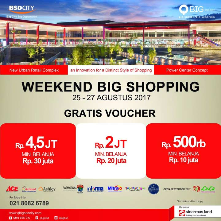August Weekend Big Shopping from QBig BSD City Mall