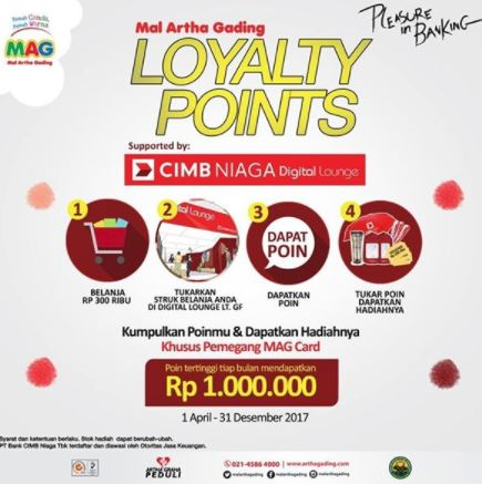 Win a Rp 1,000,000 prize from Mall Artha Gading