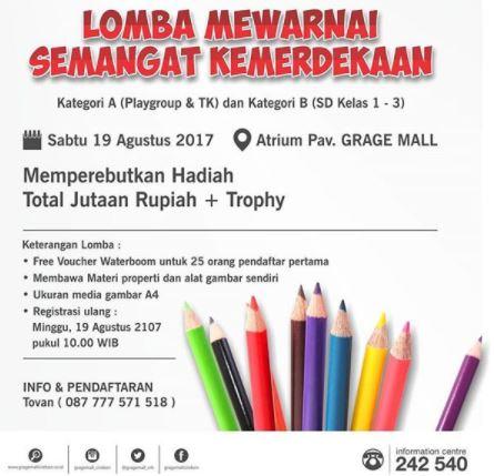 Coloring Competition At Grage Mall Cirebon Gotomalls