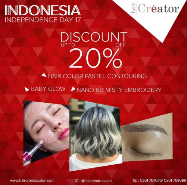 Discount 20% from Hair Creator</h3>