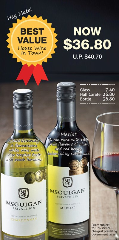 Wine of The Month Promotion at Jack's Place